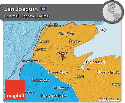 Political 3D Map of San Joaquin
