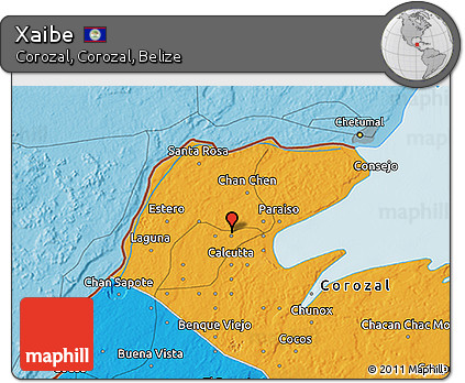 Political 3D Map of Xaibe