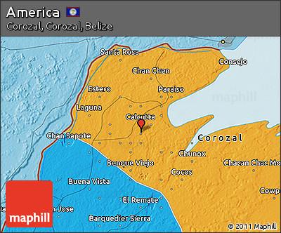 Political 3D Map of America