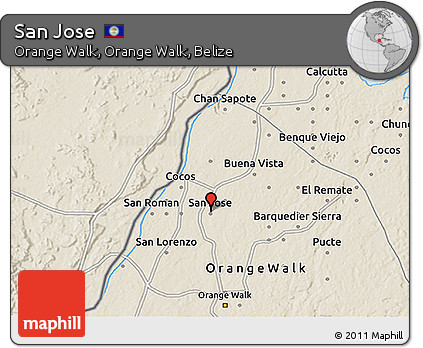 Shaded Relief 3D Map of San Jose