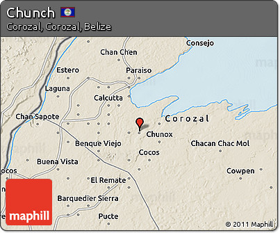 Shaded Relief 3D Map of Chunch