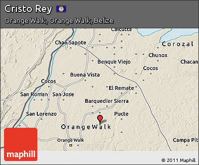 Shaded Relief 3D Map of Cristo Rey