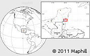 Blank Location Map of Chan Sapote