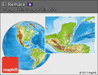 Physical Location Map of El Remate