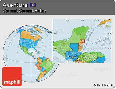 Political Location Map of Aventura