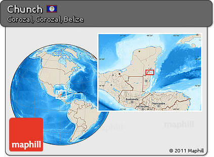 Shaded Relief Location Map of Chunch