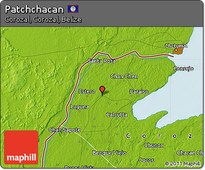Physical Map of Patchchacan