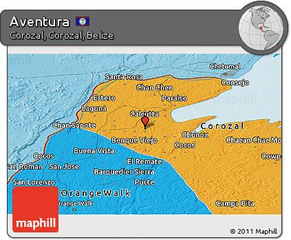 Political Panoramic Map of Aventura