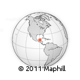 Outline Map of Xpujil, rectangular outline