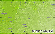 """Physical Map of the area around 18°21'26""""N,90°1'30""""W"""