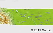 Physical Panoramic Map of Thitnapa