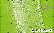 """Physical Map of the area around 18°21'26""""N,96°7'30""""E"""