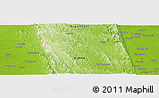"""Physical Panoramic Map of the area around 18°21'26""""N,96°7'30""""E"""