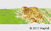 "Physical Panoramic Map of the area around 18° 21' 26"" N, 96° 58' 29"" E"