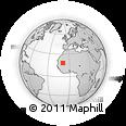 Outline Map of Tîchît, rectangular outline
