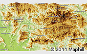 """Physical 3D Map of the area around 18°51'53""""N,102°55'30""""E"""