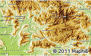 """Physical Map of the area around 18°51'53""""N,102°55'30""""E"""