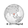 Outline Map of Phou Bia, rectangular outline