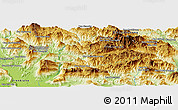 """Physical Panoramic Map of the area around 18°51'53""""N,102°55'30""""E"""