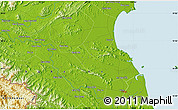 """Physical Map of the area around 18°51'53""""N,105°28'29""""E"""