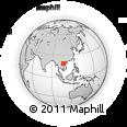 Outline Map of Vinh, rectangular outline