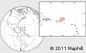 """Blank Location Map of the area around 18°51'53""""N,65°22'30""""W"""