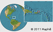 """Satellite Location Map of the area around 18°51'53""""N,65°22'30""""W"""