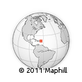 """Outline Map of the Area around 18° 51' 53"""" N, 65° 22' 30"""" W, rectangular outline"""