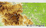 """Physical 3D Map of the area around 18°51'53""""N,70°28'29""""W"""
