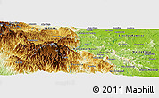"""Physical Panoramic Map of the area around 18°51'53""""N,70°28'29""""W"""
