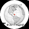 Outline Map of Las Matas De Farfán, rectangular outline
