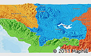 """Political 3D Map of the area around 18°51'53""""N,72°10'30""""W"""