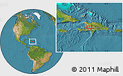 """Satellite Location Map of the area around 18°51'53""""N,72°10'30""""W"""