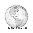 """Outline Map of the Area around 18° 51' 53"""" N, 72° 10' 30"""" W, rectangular outline"""