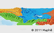 """Political Panoramic Map of the area around 18°51'53""""N,72°10'30""""W"""