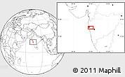 Blank Location Map of Malabar Hill