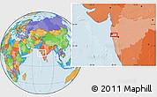 Political Location Map of Malabar Hill