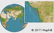 Satellite Location Map of Malabar Hill