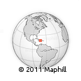 Outline Map of Haiti, rectangular outline