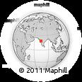 Outline Map of Lohegaon, rectangular outline