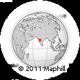 Outline Map of Parner, rectangular outline