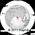 Outline Map of Maharashtra, rectangular outline