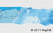 """Political Panoramic Map of the area around 18°51'53""""N,87°28'29""""W"""