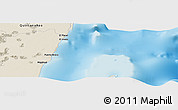 """Shaded Relief Panoramic Map of the area around 18°51'53""""N,87°28'29""""W"""