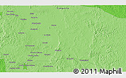 """Political 3D Map of the area around 18°51'53""""N,90°1'30""""W"""