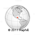 Outline Map of Macachi, rectangular outline