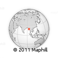 Outline Map of Tegyigon, rectangular outline