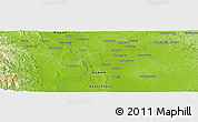 "Physical Panoramic Map of the area around 18° 51' 53"" N, 95° 16' 30"" E"