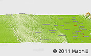 "Physical Panoramic Map of the area around 18° 51' 53"" N, 96° 7' 30"" E"