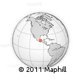 Outline Map of Tlilapan, rectangular outline
